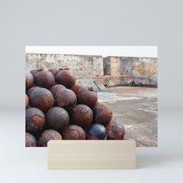 Cannonballs at San Felipe del Morro Mini Art Print