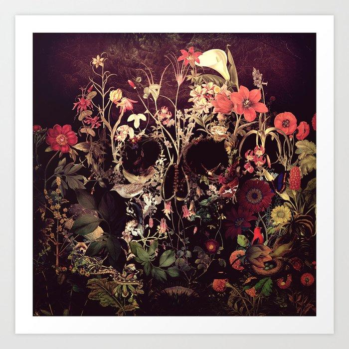 Bloom Skull Kunstdrucke
