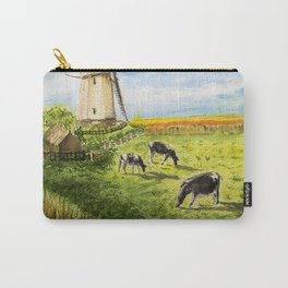 Cows Farm and Windmill Carry-All Pouch