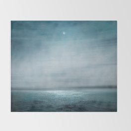 Sea Under Moonlight Throw Blanket