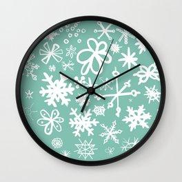 Snowflake Pond Wall Clock