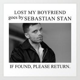 Lost my boyfriend Sebastian Stan Art Print