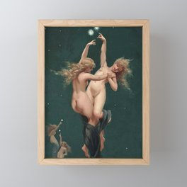 "Luis Ricardo Falero ""Twin Stars"" Framed Mini Art Print"