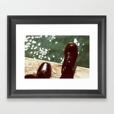 the places we'll go... Framed Art Print