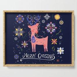 Happy Deer Card Serving Tray