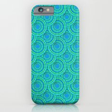 Teal Parasols Pattern iPhone 6s Slim Case