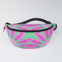 Flowers Mandala Pattern : Fuchsia Pink & Teal Watercolor Fanny Pack