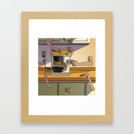 DON'T TALK TO ME UNTIL I'VE TALK TO MY COFFEE DON'T TALK TO MY COFFEE Framed Art Print