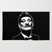 bill murray Area & Throw Rugs featuring Bill Murray Special Edition  by Spyck