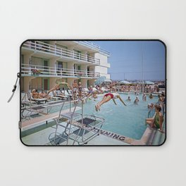 Rio Motel Pool with Trampolines. A 1960's photograph. Wildwood, New Jersey Laptop Sleeve