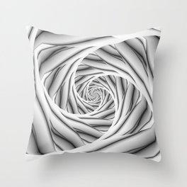 Spiral Steps in Black and White Throw Pillow