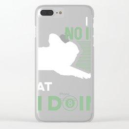 Billiard Tee, Pool print, Bar Tee, Snooker product Clear iPhone Case