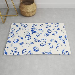 Marine cord stamps Rug