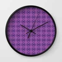 majoras mask Wall Clocks featuring Majoras Mask by Quinncinati