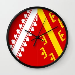flag of alsace Wall Clock