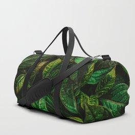 Golden Green Leaves Duffle Bag