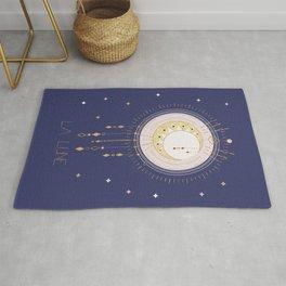 The Moon and stars - magical tarot illustration no6 Rug
