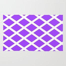 rhombus and tartan 4–  purple Rug