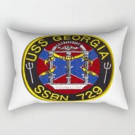 USS GEORGIA (SSBN-729) PATCH Rectangular Pillow