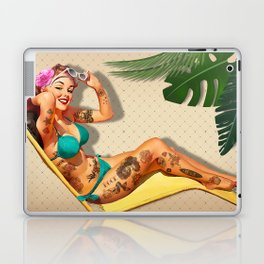 Beach Pin-up Laptop & iPad Skin