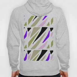 Hand painted abstract pink violet green geometric pattern Hoody