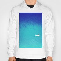 airplane Hoodies featuring Airplane by Brad Newman