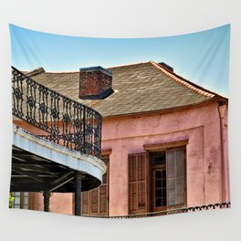 Open Shutters in the French Quarter Wall Tapestry