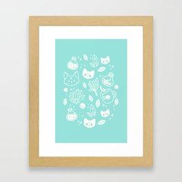 Herb Witch // Green Pastel Framed Art Print