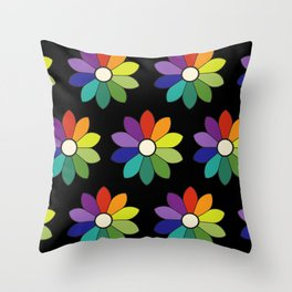 Flower pattern based on James Ward's Chromatic Circle (enhanced) Throw Pillow
