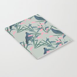 Kokako Wallpaper Pattern Notebook