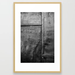 In a Grey Town 1: Churchyard Door Framed Art Print