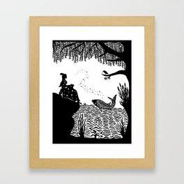 Ye Xian - The Golden Fish Framed Art Print
