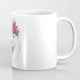 Samoyed with flowers Coffee Mug