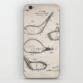Golf Driver Patent - Golf Art - Antique iPhone Skin