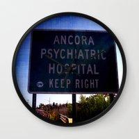 psych Wall Clocks featuring Ancora Psych by Groovyal