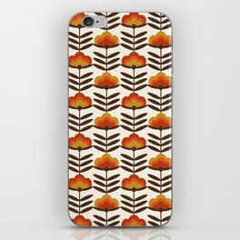 Boogie - retro florals minimal trendy 70s style throwback flower pattern iPhone Skin
