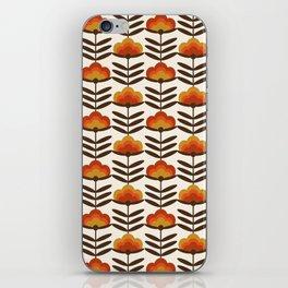 Boogie - retro florals minimal trendy 70s style throwback flower pattern iPhone Skin