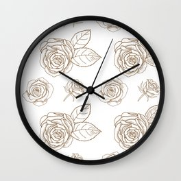 Rose Line Art Neck Gaiter Roses Neck Gator Wall Clock
