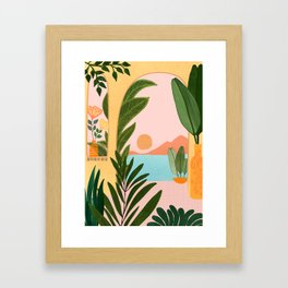 Moroccan Coast - Tropical Sunset Scene Framed Art Print