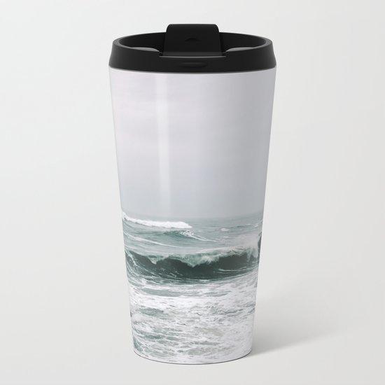 Waves III Metal Travel Mug