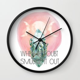 When in doubt, smudge it out Wall Clock