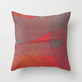 """Pastel Abstract Symmetrical Landscape"" Throw Pillow"