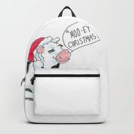 Moo-ey Christmas Cow Backpack