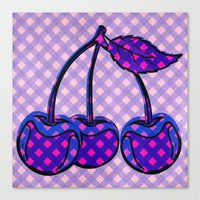 cherry Canvas Prints featuring Cherry by SensualPatterns