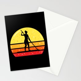 Woman On SUP Stand Up Paddleboard Stationery Cards