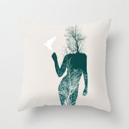 Bliss of Solitude Throw Pillow