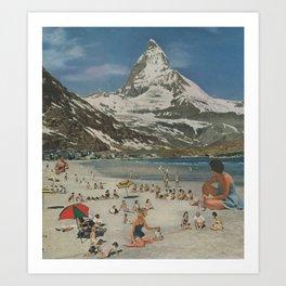 Matterhorn beach Art Print