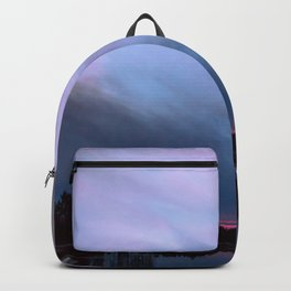 Sunset in winter evening Backpack