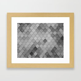 Fifty Gray Shades of Tiles (Black and White) Framed Art Print