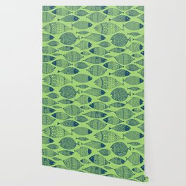Fish Blue Green Wallpaper